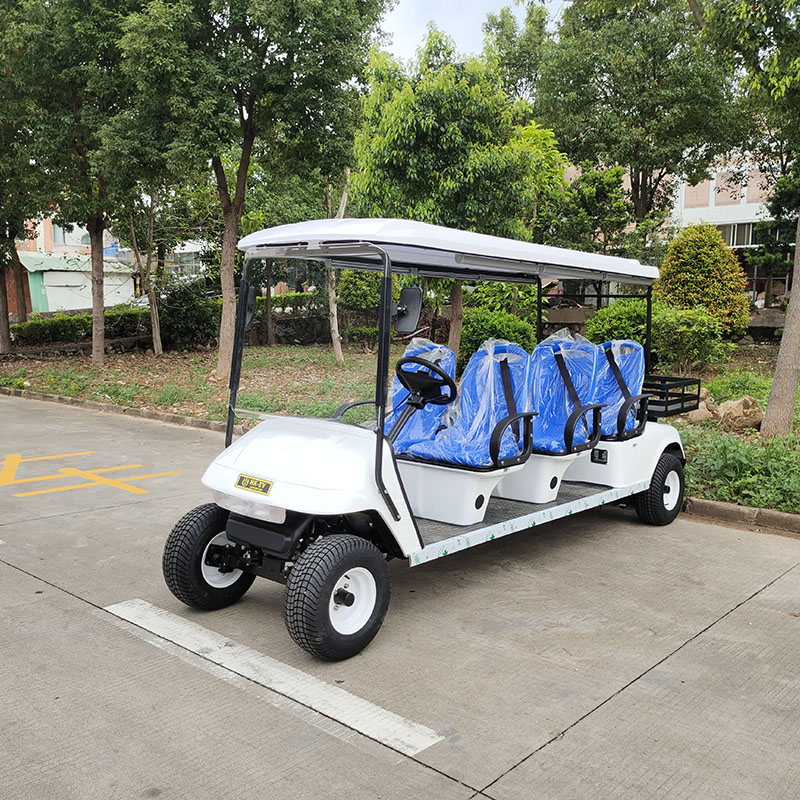 6座带货斗公交座椅版电动高尔夫车