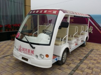 华锴电动观光车进驻广西桂平高铁新城