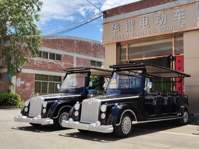 12座劳斯莱斯款电动老爷车向省外著名旅游景点走起