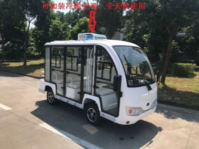 8座封闭式空调电动观光车
