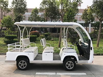 华锴电动观光车推进了景区经济发展