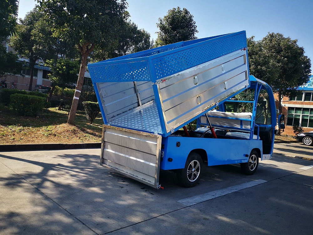 2座位自卸电动垃圾清运车