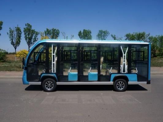 14座封闭式电动观光车