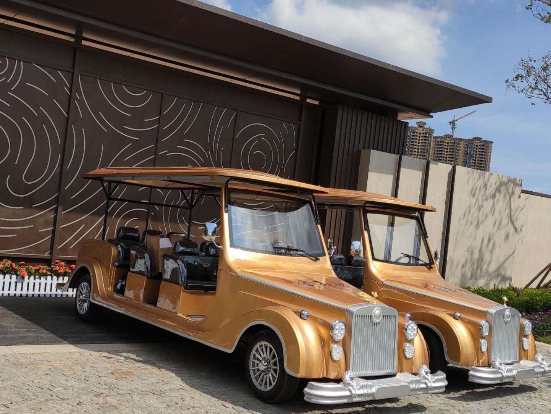 8座劳斯莱斯款电动老爷车成功交付珠海地产项目