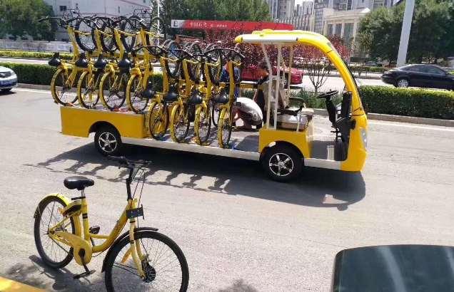 校园公园单车收纳转运车